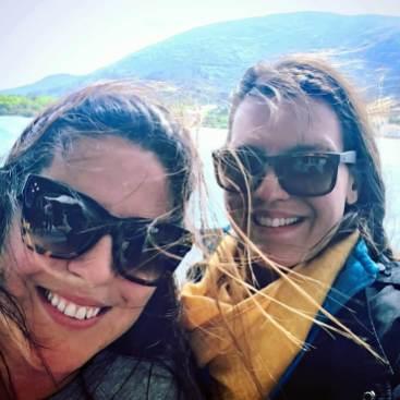 With Maja Gudelj in Ston, Croatia