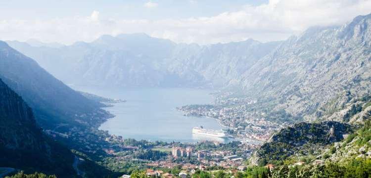Overview of Montenegro's Kotor Bay