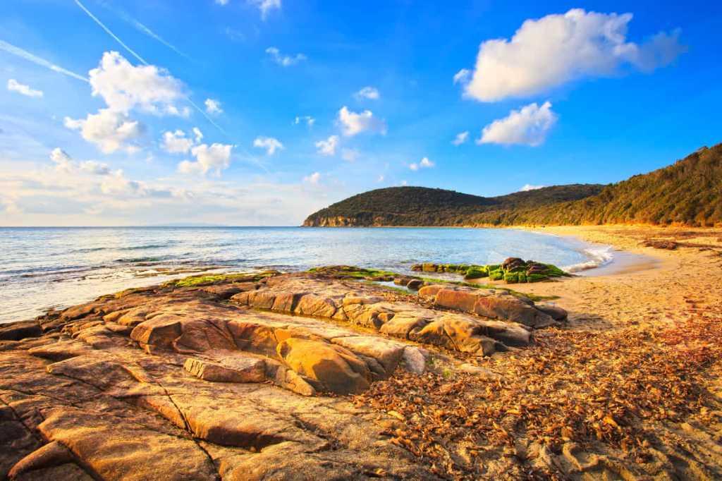 Seaside destinations in Italy: Cala Violina in the Tuscan Maremma