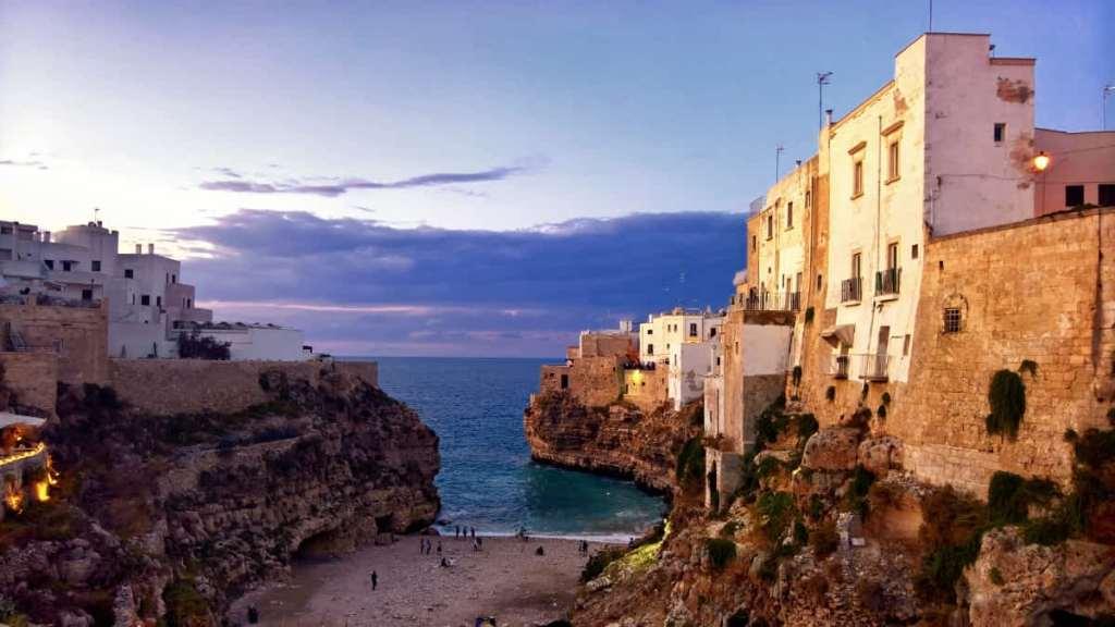 Seaside destinations in Italy: Polignano a Mare in Puglia