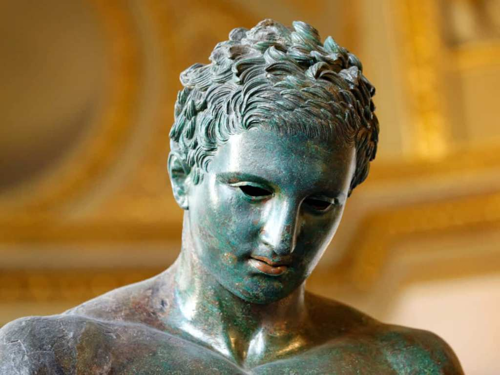 The Croatian Apoxyomenos bronze statue