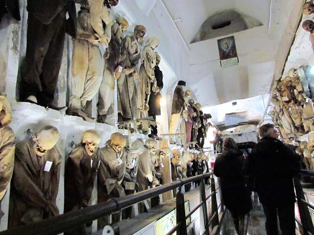 Spooky places to visit in Italy: the Capuchin Catacombs, Palermo