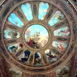 Frescoed ceiling of the Teatro Massimo in Palermo, Sicily