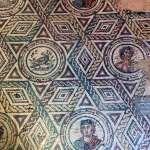 Mosaic pattern in Villa Romana del Casale in Sicily