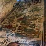 Large scale mosaic flooring in Villa Romana del Casale in Sicily