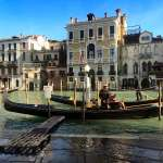 A gondola boarding location in Venice