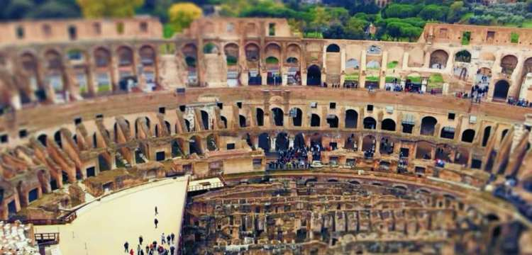 View from the Upper Tiers of the Colosseum
