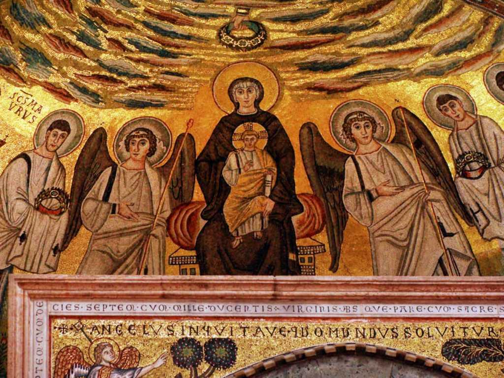 Byzantine mosaic in the Euphrasian basilica, Porec, Croatia
