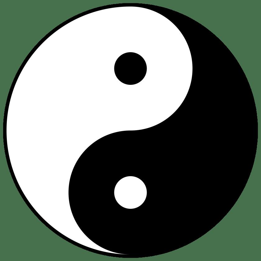 Yin Yang Fischsymbol