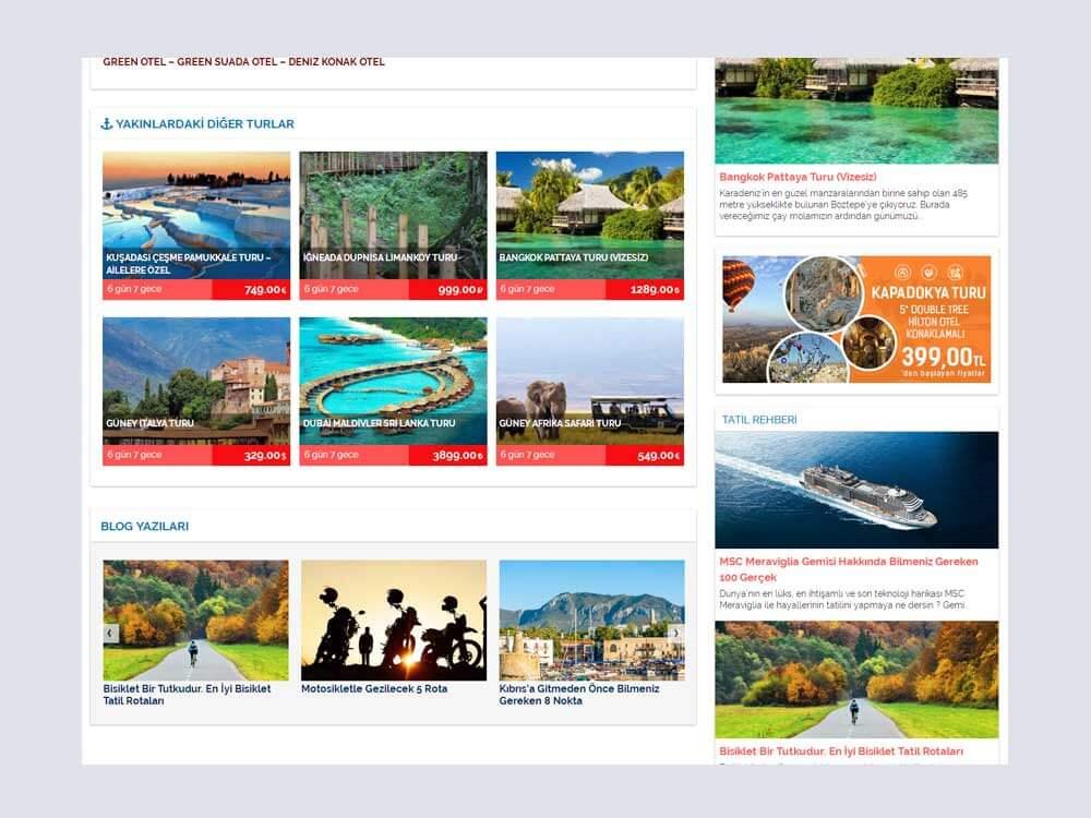 OthemesNET Turio WordPress Tur Seyahat Temasi Benzer Turlar