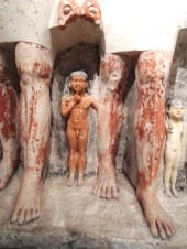 """Pseudo-group statue of Penmeru Egypt 2465-2423 BC """"The kids"""""""