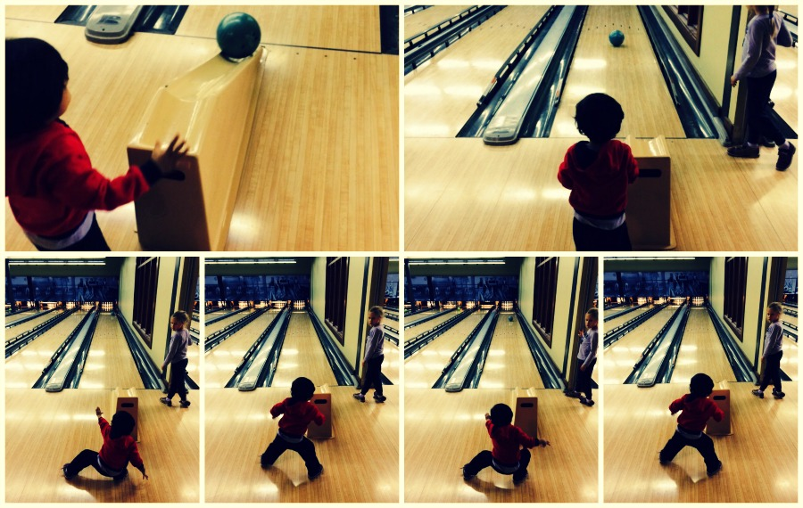 Pinstripes bowling is a great place to bowl, have brunch during the holidays and a great way to see Santa.