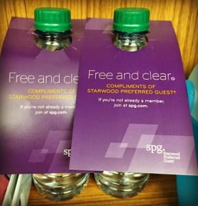 Aloft Chicago OHare Free Bottle Water