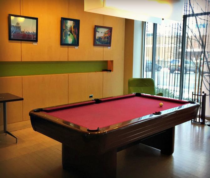 Aloft Chicago OHare Pool Table