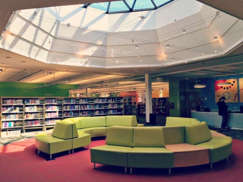 Arlington Heights Library Couch Skylight