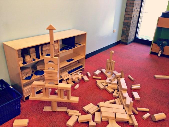 Arlington Heights Library Wooden Blocks