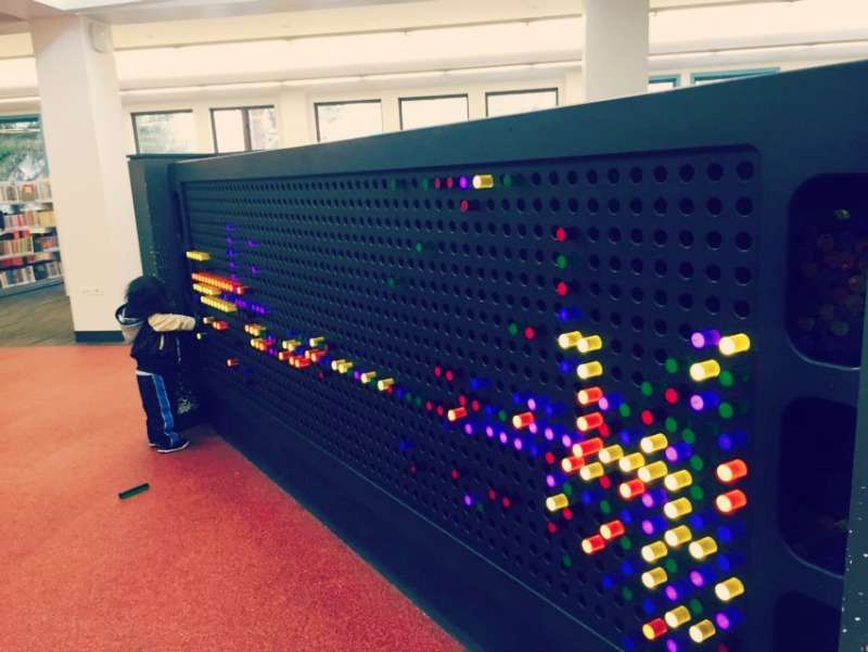 Barrington Area Library Lite Brite Wall