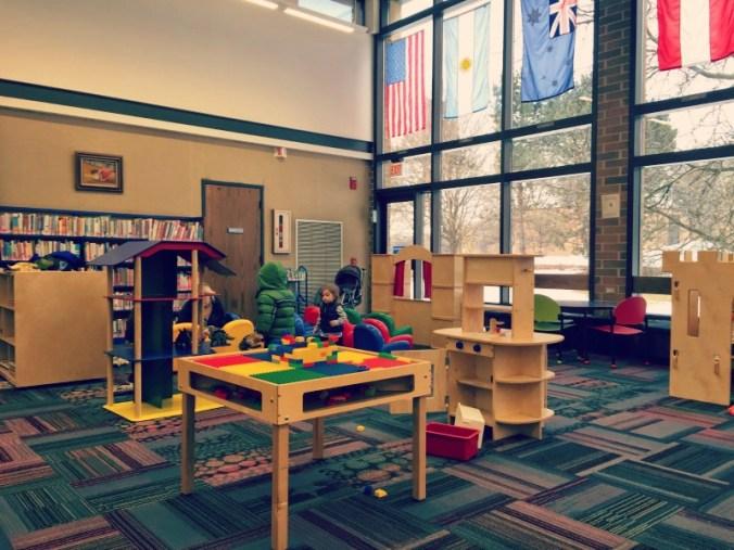 Elk Grove Library Spacious Area