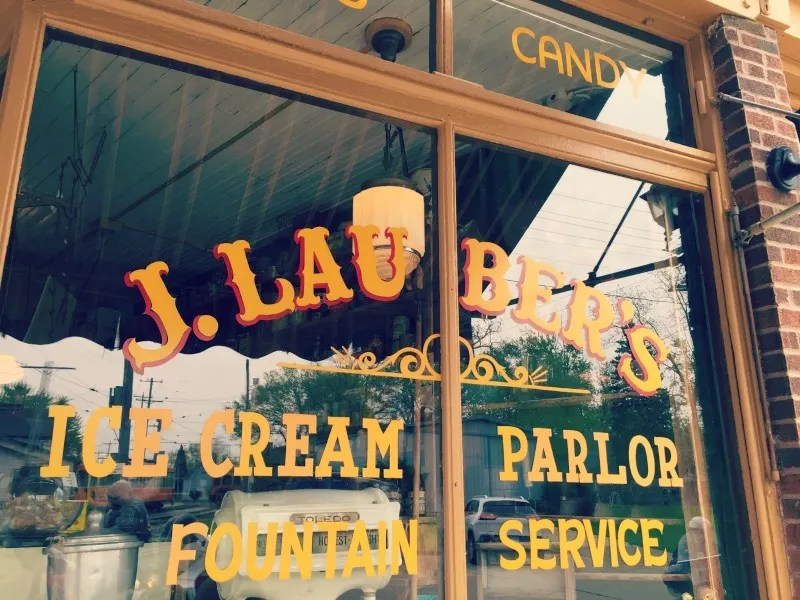 Sweet Treats at J. Lauber's Ice Cream Parlor: An old fashioned ice cream shop