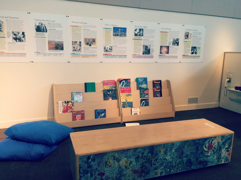 Kohl Childrens Museum Chagall for Kids Art Exhibit Book Nook