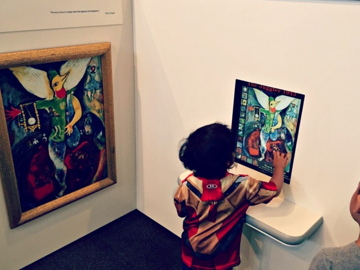 Kohl Childrens Museum Chagall for Kids Art Exhibit Juggler