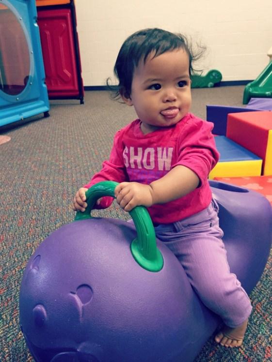 Jumps n Jiggles Elk Grove Village Playground Eggplant Toy