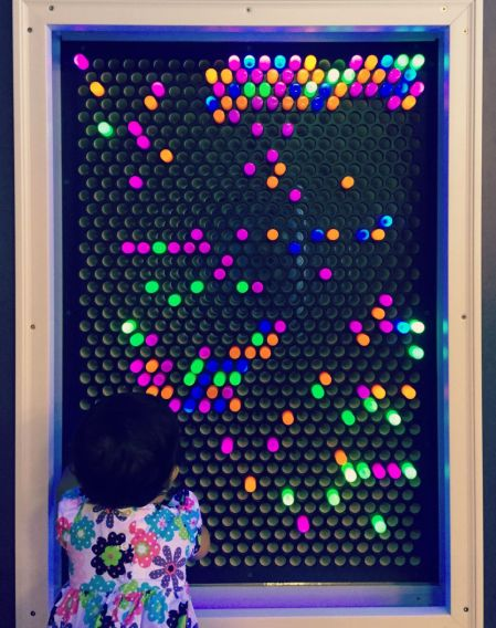 DuPage Childrens Museum Grand Reopening Light Wall