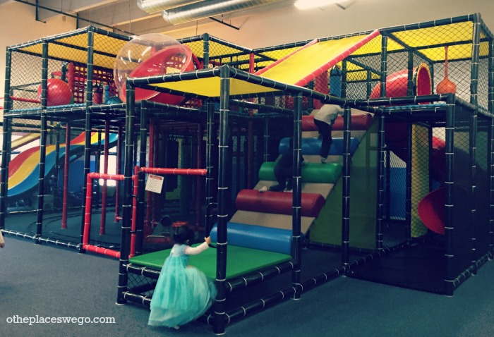 Get lost in the large play structure at Fun Republic St. Charles Illinois