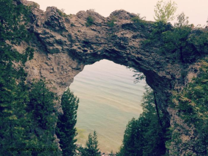 Biking Mackinac Island - Arch Rock