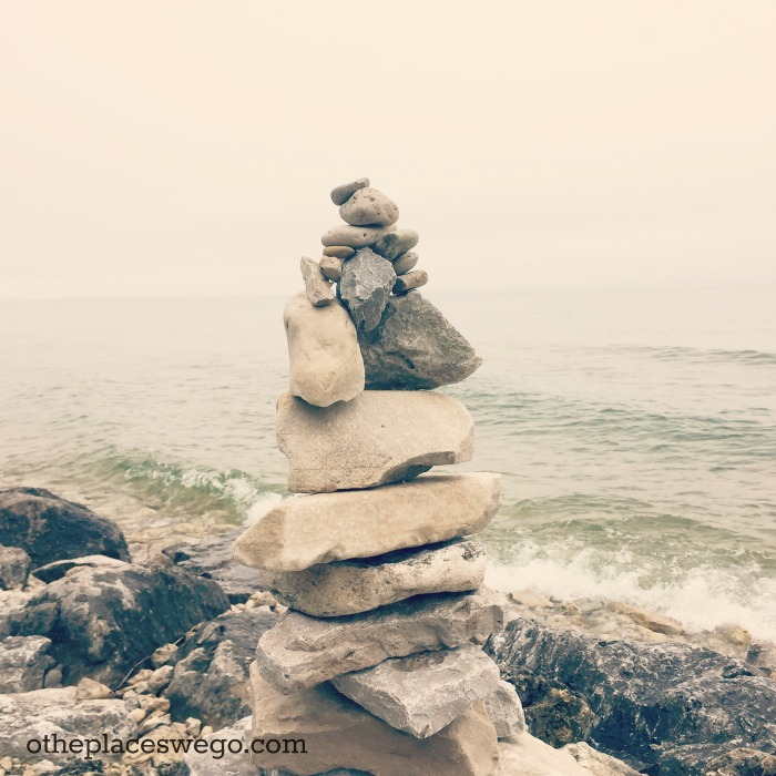 Biking Mackinac Island - Rocks