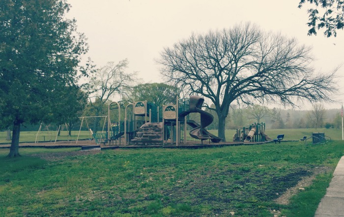 Biking Mackinac Island - School Playground