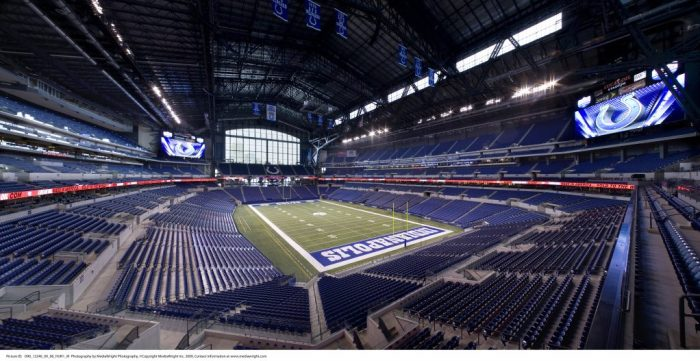 Family Fun in Indiana including a tour of Lucas Oil Stadium, home of the Indianapolis Colts.