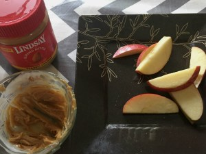 After school snacks made with Lindsay Almond Butter.