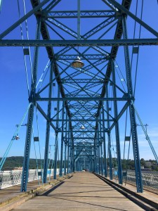 Family Fun in Chattanooga, Tennessee including a visit to Walnut Street Bridge.