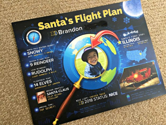 A review of PackageFromSanta.com, including a personalized letter from Santa, Nice List Certificate, Photo, and Flight Plan.