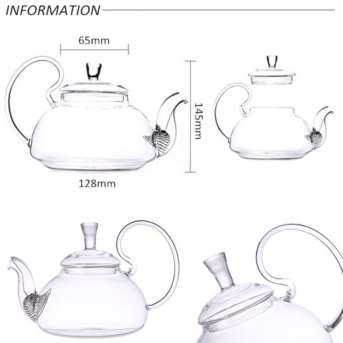 Discount Heat Resistant Elegant Glass Teapot Infuser