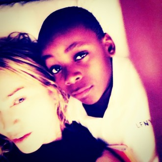 """One Lucky Mother! #livingforlove "" -Madonna"