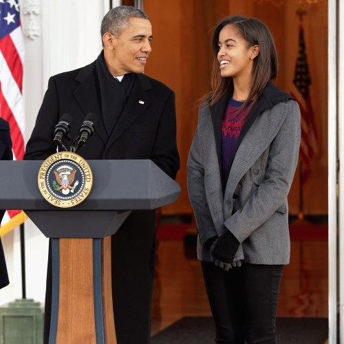 malia-obama-and president obama
