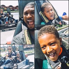 Usher showed us some dad love with this piece of adorable-ness of he and his boys
