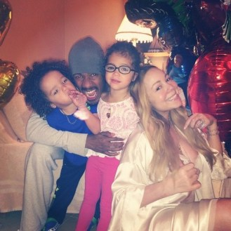 "Nick and Mariah Carey checked in with the adorable ""Dem Babies"""
