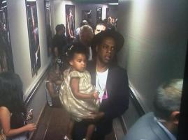 BLU AND HER DAD BACKSTAGE