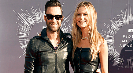 NEWLYWEDS AND ADAM LEVINE AND BEHATI PRINSLOO HIT RED CARDPET SINCE THEIR JULY NUPTIALS