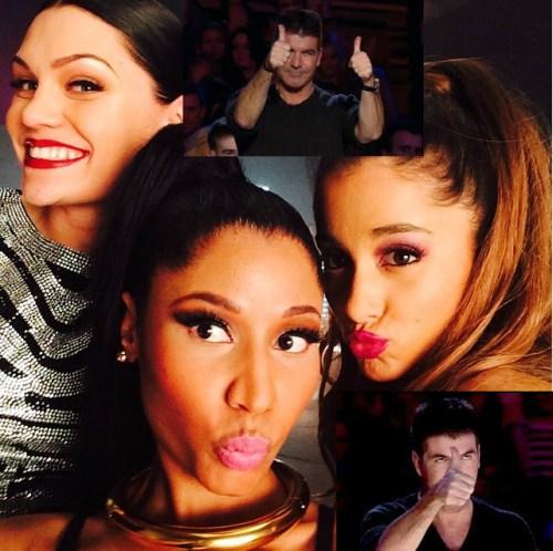 Simon Cowell THUMBS UP Bang Bang Jessie J Ariana Grande Nicki Minaj OTHER SIDE OF THE FAME