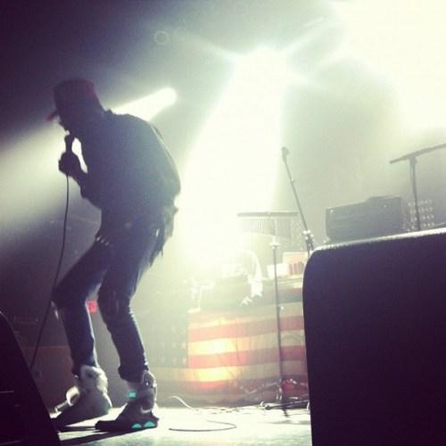 celeb on stage