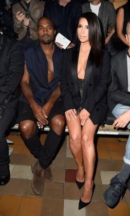 Kim and Kanye boob
