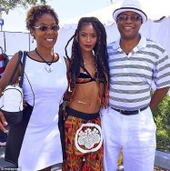 Simone Battle and her parents