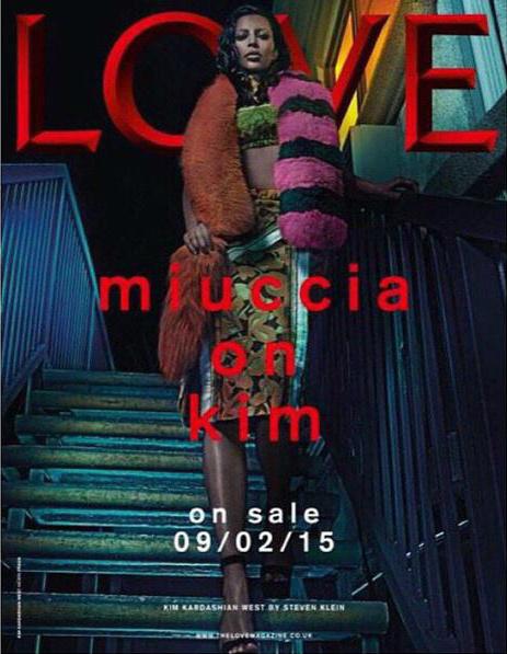Kim Kardashian Love Magazine Cover