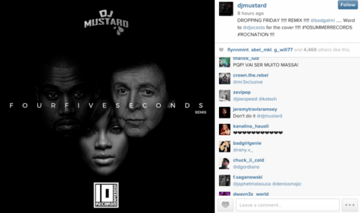 DJ Mustard Rihanna FOURFIVESECONDS