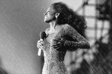 Diana Ross rainstorm in Central Park show