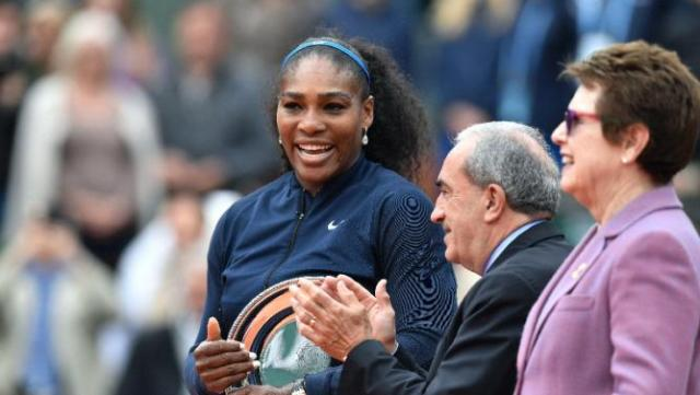 Serena and Billie Jean King Ladies Single Match French Open June 2016